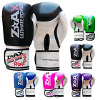 MAYA Leather Gel Boxing Gloves Sparring Punch Bag Training Pads Junior & Adults