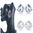 Simulated Cubic Zirconia Ruby Sapphire Circle Clip Earrings 725 24E 18