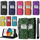 For LG Stylus 2 Plus Composition Book Design Flip Wallet Cover Case Stand + Pen