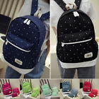 3 Pcs Womens Girls Student Travel Canvas Bags Backpack Shoulder Bags Rucksack ms