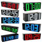 LED Digital Number Jumbo Snooze Home Room Wall Calendar Alarm Electronic Clock E