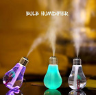 Bulb Humidifier Home Aroma LED Color Changing Air Diffuser Purifier Atomizer