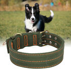 Fashion Army Green Pet Large Dogs Collars Double Row Buckle Design Pet ProductsH