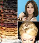 Hairband Plait Headband Braided Pigtail Hair Accessories Artificial 10 Colors