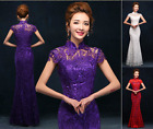 Lace Mermaid Formal Evening Prom Party dress wedding gown Bridesmaid dress F244