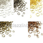 300 Assorted Open Round Jewelry Jumprings in a Mix of Small - Big Ring Findings