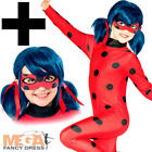 Miraculous Ladybug + Wig Girls Fancy Dress Superhero Book Day Kids Child Costume