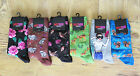 LADIES HOT SOX Size 9-11 Socks LIVING THINGS Selfie Squirrel Raccoon You Choose