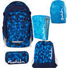 satch MATCH 5er Set Blue Crush Rucksack Schlamper Turnbeutel Heftebox Cape Blau