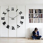 DIY 3D Wall Clock Roman Numerals Large Size Mirrors Surface Luxury Art Clock USA