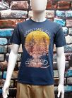 MARKS & SPENCER NORTH COAST MEN'S BLUE PRINTED COTTON T SHIRT Sizes S,XL,XXL