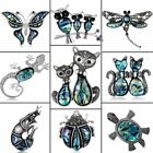 New Fortunate Crystal Rhinestone Enamel Animals Turtle Butterfly Brooch Jewelry