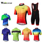 Cycling Jersey Men Weimostar Breathable Clothing Wear Bib Shorts Set quick-dry