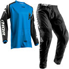 NEW 2018 THOR SECTOR MOTOCROSS KIT COMBO JERSEY & PANTS ZONES BLUE