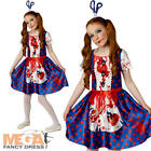 Rag Doll Girls Halloween Fancy Dress Creepy Zombie Puppet Childs Kid Costume New