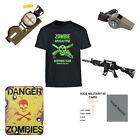 Kids Pack Z1 Zombie Apocalypse Survival Kit T-shirt Compass Toy Gun Whistle Sign