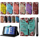 For Kyocera Hydro View C6742 Bible Verses Design Wallet Cover Case Stand + Pen