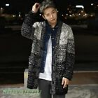 Fashion Men's Autumn Color matching Knitting Sweaters Students Casual Cardigan