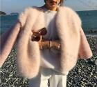 fashion womens ladies faux fur coat Jacket slim short outwear parka warm casual