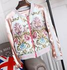 womens embroidery Jacket coat Multicolor slim baseball suits casual Leisure new