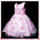 Easter Pinks Christening Wedding Party Flower Girls Dresses SIZE 2-3-4-5-6-7-8Y