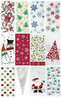CHRISTMAS CELLO BAGS - Xmas Cellophane Gift Party Loot Treat Children/Kid Sweets
