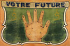 VOTRE FUTURE YOUR FUTURE IN YOUR HANDS HAND READING VINTAGE POSTER REPRO