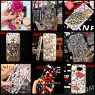 Jewelled Bling Crystal Diamonds Soft TPU Phone back Case Cover & neck strap #N