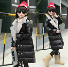 Womens PU Leather Lapel Fur Collar Thicken Warm Coat Slim Jacket Long Parkas New