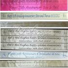 Personalised Golden Wedding 50th Anniversary Polyester Ribbon Party Banner