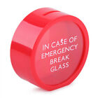 4 Color Novelty In Case Of Emergency Break Glass Savings Money Coin Bank Box