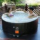 Goplus Portable Inflatable Bubble Massage Spa Pool Hot Bathtub 4 Persons US New