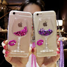 Glitter Quicksand Wine Glass Goblet Silicone Phone Case Cover for iPhone Samsung