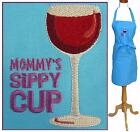 Mommy's Sippy Cup Apron & Wine Glass Mother's Day Gift Custom Embroidered NWT