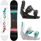 Flow Venus Snowboard 2015, 2016 + Flow Haylo (black, grey) 2016 – Damen Set