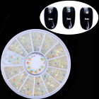 3D Nail Art Rhinestones Decoration Wheel Manicure Glitters Beads Studs DIY Tips