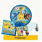 POKEMON Birthday Party Range (Tableware & Decorations) {Amscan} Supplies