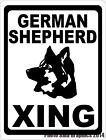 German Shepherd Xing Crossing Sign. w /Options. Gift for Dog Lovers of Shepherds