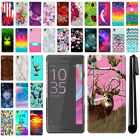 For Sony Xperia X Performance F8131 F8132 PATTERN HARD Back Case Cover + Pen