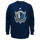 adidas Dallas Mavericks NBA Navy Tip-Off Ultimate climawarm Sweatshirt Child