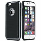 iPhone 6 Case Slim Hybrid Dual Layer Case Brushed Texture PC+TPU Case for Men