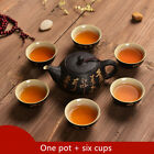 Zen style Chinese tea set ceramic tea pot gaiwan tureen tea cup China characters