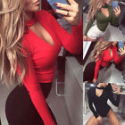 Fashion Women Long Sleeve Stretch Sexy Bodysuit Lady Leotard Body Tops T-shirt A