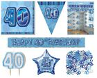 40th Birthday/Age 40 - BLUE PARTY ITEMS Decorations Tableware - Large Range