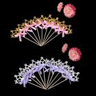 10pcs Glitter Crystal Crown Cake Topper Food Picks with Bow for Wedding Birthday
