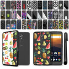 For ZTE Max XL N9560 Black Hard Clear Case TPU Bumper Cover + Pen