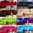 Hot L Shape Stretch Elastic Fabric Sofa Cover Sectional Corner Couch Covers PD