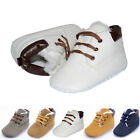 0-18M Baby Kids Boy New Soft Sole Crib Ankle Boots Lace-up Casual Sneakers Shoes