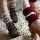 Women's Knitted Lace Trim Boot Cuff Leg Warmers Socks * No Buttons*