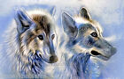 Two Wolves ~ Wolf, Animals ~ Counted Cross Stitch Pattern